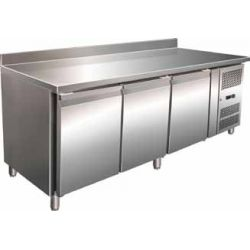 Tavolo refrigerato per pasticceria ventilato in acciaio Forcar G-PA3200TN