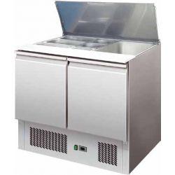 Saladette refrigerata statica capacità n.2 gn1/1 + 3 1/6 Forcar mod. S900