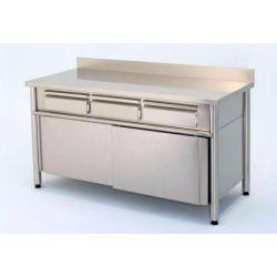 Tavolo armadiato scorrevole con cassetti superiori  e alzatina TASECO 10/7 A