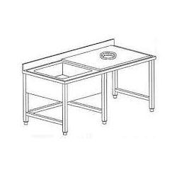 Tavolo sbarazzo e lavaggio stoviglie TSE14/7 1VGSX