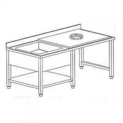 Tavolo sbarazzo e lavaggio stoviglie TSE14/7 1VGSXR