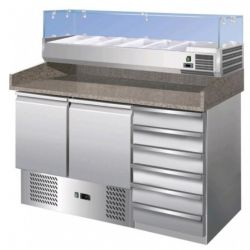 Banco refrigerato pizzeria statico FORCOLD S903PZCAS-FC